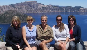 Jen with Martha at Crater Lake